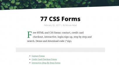 Шаблоны форм CSS